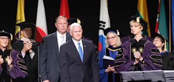 Pence commencement address causes walkouts