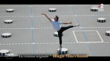 Regardez l'étoile Hugo Marchand danser au milieu des colonnes de Buren à Paris
