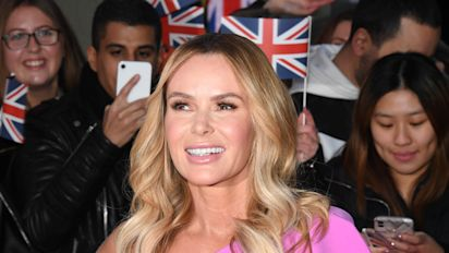 Amanda Holden takes the bin out in couture gown
