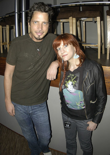 Chris Cornell with Yahoo Music editor Lyndsey Parker in 2007