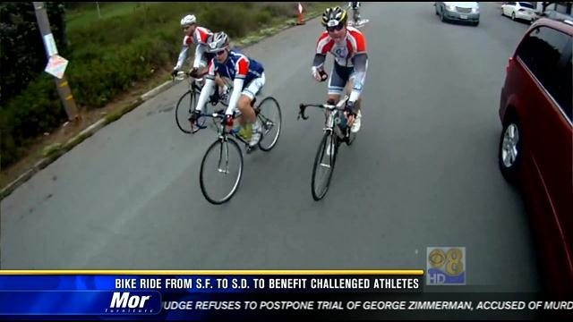 Bike ride from San Francisco to San Diego to benefit challenged athletes