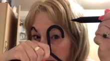 Mum goes viral after posting a video of her drawing on eyebrows
