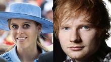 La princesa Beatriz es la responsable de la cicatriz en la cara de Ed Sheeran
