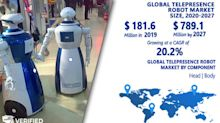 Telepresence Robot Market Worth $789.1 Million, Globally, by 2027 at 20.2% CAGR: Verified Market Research