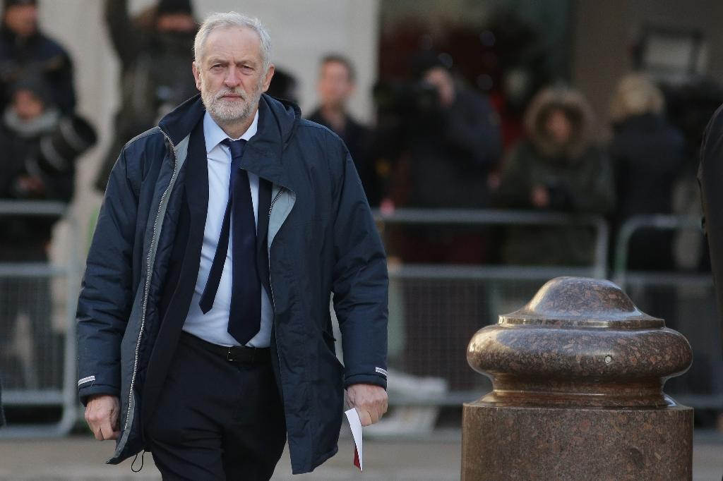 """Opposition Labour leader Jeremy Corbyn will call for """"a bespoke relationship"""" with the European Union that appears to mirror the bloc's current customs union but with agreed opt-outs (AFP Photo/Daniel LEAL-OLIVAS)"""