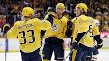 Watch: Preds' Viktor Arvidsson assists with pregame marriage proposal