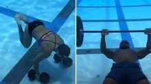 Intense underwater workouts push athletes into the deep end