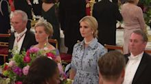 Ivanka Trump criticised for not putting her hand over her heart during national anthem