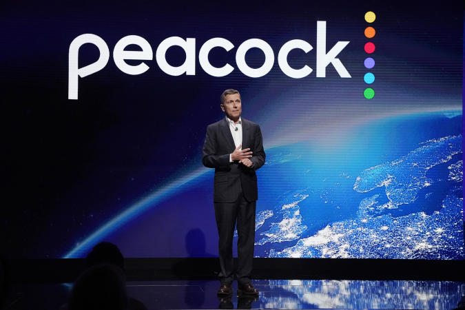 """PEACOCK EVENTS -- """"Peacock Investor Day"""" at 30 Rockefeller Center in New York, NY on Thursday, January 16, 2020 -- Pictured: Steve Burke, Chairman, NBCUniversal -- (Photo by: Virginia Sherwood/Peacock/NBCU Photo Bank via Getty Images)"""