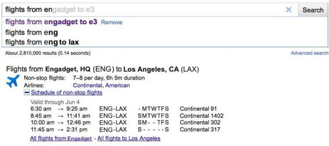 Google flight schedule search takes off, helps you figure out when to get aboard