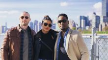 Quantico: Priyanka Chopra poses with Blair Underwood and Jake Mclaughlin