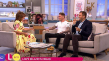 Lorraine tells Craig Lawson he's been 'mugged off' on Love Island