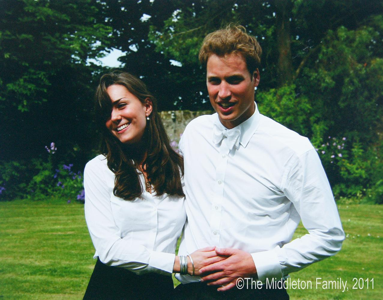 Kate Middleton and Prince William on the day of their graduation ceremony at St. Andrews University.