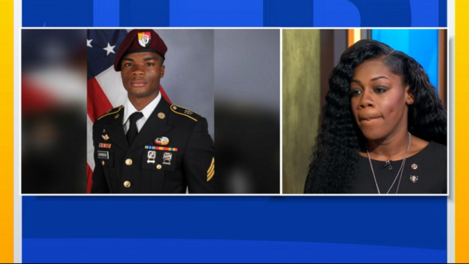 Soldier's widow 'very angry' at Trump's call; he 'couldn't remember' husband's name