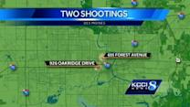 Police busy with 2 weekend shootings