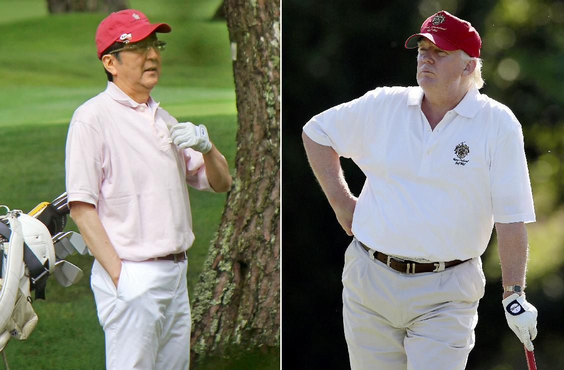 With golf and gifts, Japan's Abe cuts own path with Trump