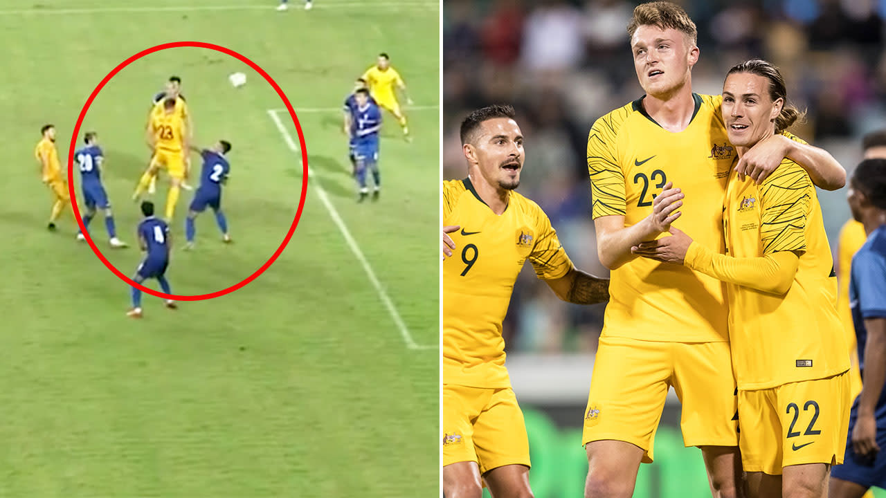 'Can't believe what I'm seeing': Fans in frenzy over Socceroos 'monster'