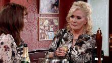 Corrie's Liz blackmails Toyah over the pub tonight