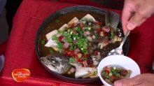 Steamed Barramundi with Red Chilli and Chinese Bacon