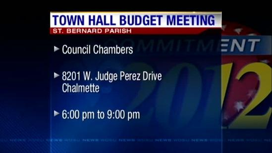 Final town hall meeting scheduled to discuss 2013 budget