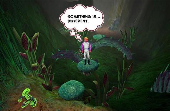 See screens, video from canceled 3D Space Quest *platformer*