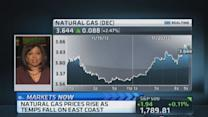 Natural gas prices rise