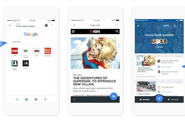 Google Spaces helps you share things with small groups