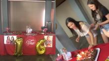Jovem faz festa inspirada em 'A Dona do Pedaço' com direito a pasta verde na decoração