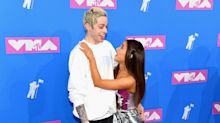 Pete Davidson wears bracelet with Ariana Grande's future married initials on MTV VMAs red carpet