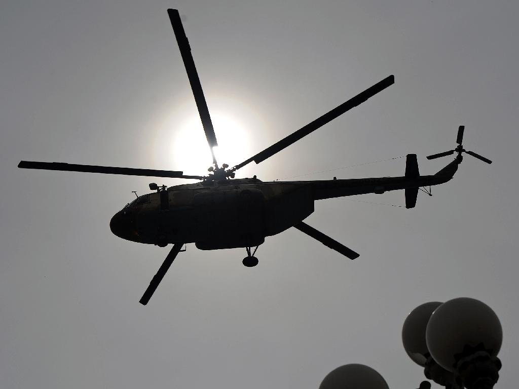 A military helicopter crashed in eastern Libya, killing five people