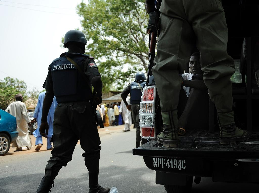 Nigerian police on patrol in Bauchi in 2011 (AFP Photo/Tony Karumba)