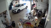 CCTV captures woman stealing tools from unattended garage
