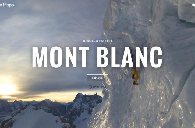 Climb Europe's highest peak on Google Street View
