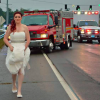 Paramedic Rushes To Crash Scene In Her Wedding Dress Minutes After Getting Married