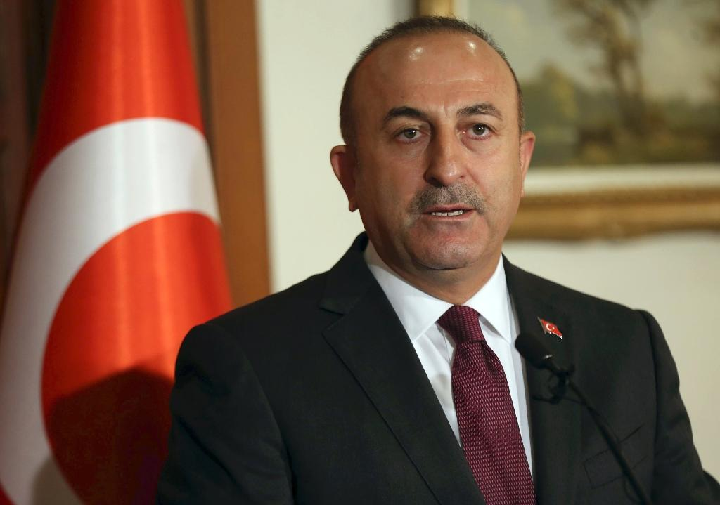 """Turkish Foreign Minister Mevlut Cavusoglu on Wednesday urged Syria's regime and its backers to end their """"violations"""" of the truce, warning they were jeopardising the planned talks in Kazakh capital Astana this month (AFP Photo/Adem ALTAN)"""