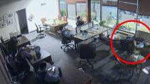 'Total disregard': Police officers caught 'lounging' as looters wreak havoc