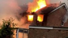 Boy, 2, 'lucky to be alive' after home bursts into flames when it's struck by lightning