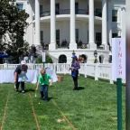 "Boy who inspired ""right to try"" law attends White House Easter egg roll"