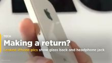 Leaked iPhone pics show glass back and headphone jack