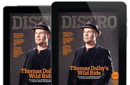 Distro Issue 43 has arrived with Thomas Dolby: TED talks, cellphone deals and the Floating City