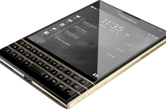 BlackBerry's gold-hued Passport is even more audacious than usual
