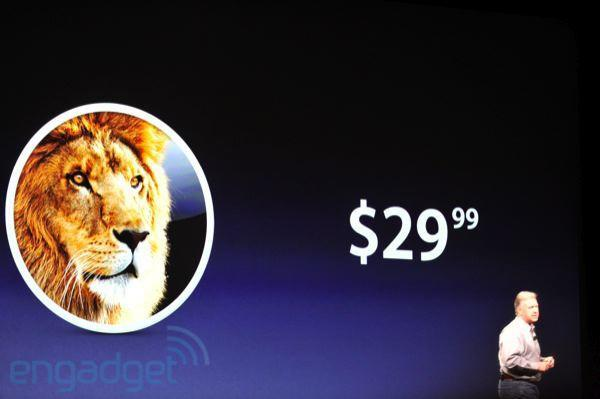 OS X Lion launching in July for $29.99, Lion Server to run $49.99