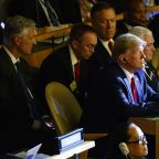 Trump briefly pops into UN climate summit after expected snub