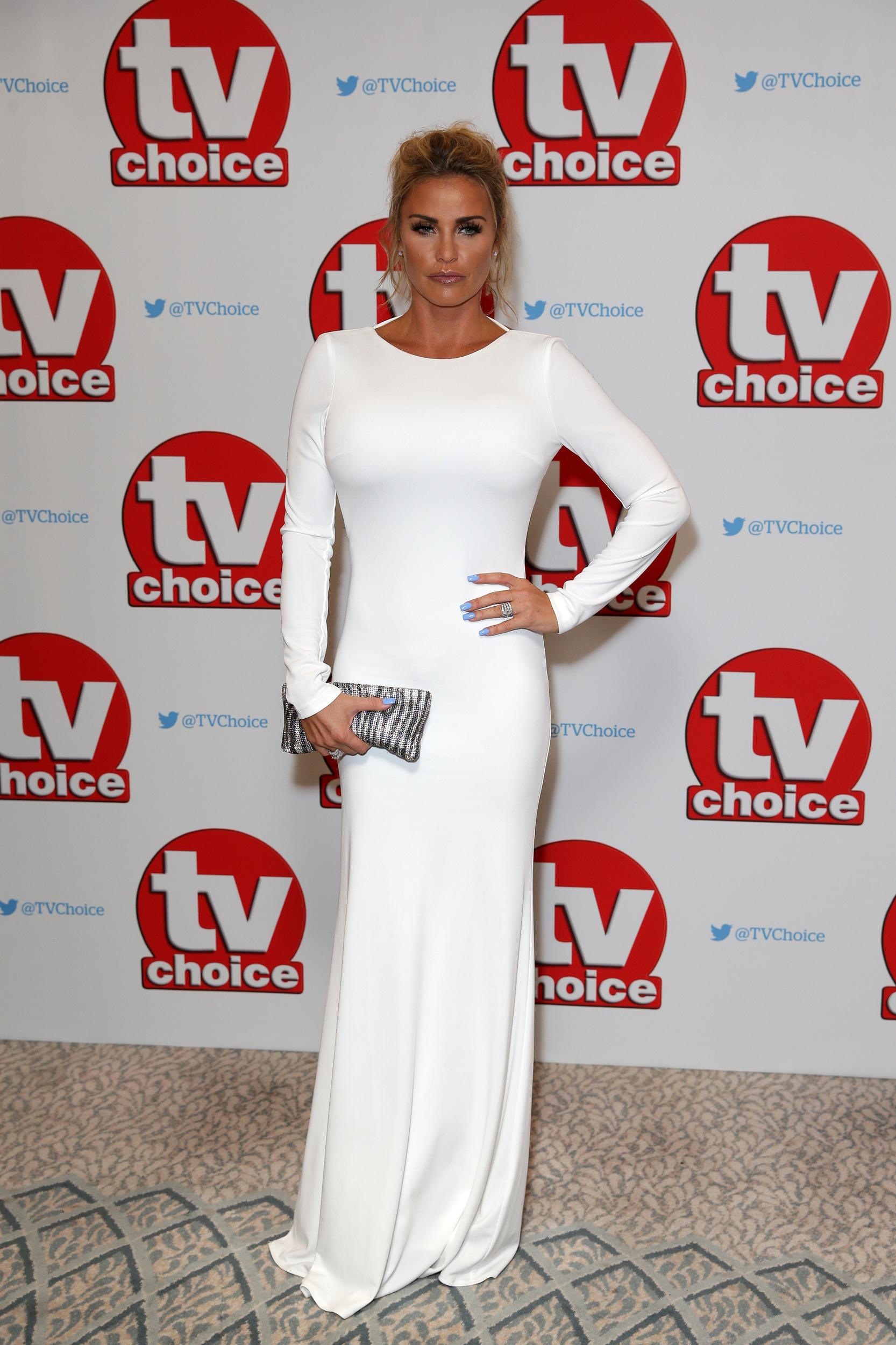 Katie Price arriving for the TV Choice Awards 2016 held at The Dorchester Hotel, Park Lane, London. PRESS ASSOCIATION Photo. Picture date: Monday September 5, 2016. See PA story SHOWBIZ TVChoice. Photo credit should read: Daniel Leal-Olivas/PA Wire