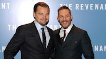 Tom Hardy finally gets tattoo after he lost a bet with Leonardo DiCaprio