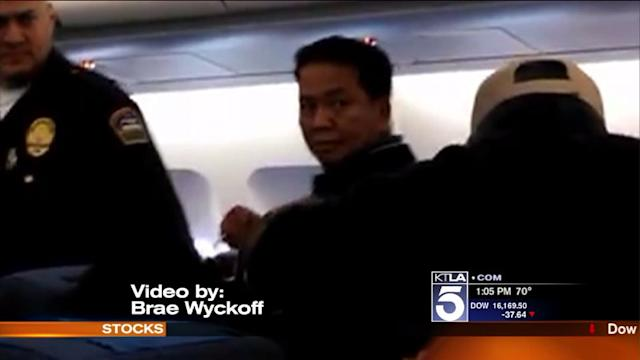 Video Shows Arrest of Alleged Unruly Passenger at LAX