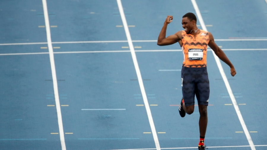 Noah Lyles storms to first US 100m title