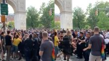 Police 'beat, shoved and pepper-sprayed' crowds at alternative New York Pride march