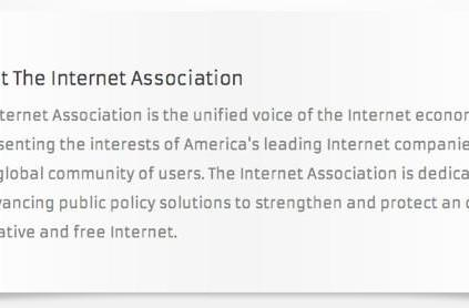 Google, Amazon, Facebook and more confirmed as members of the Internet Association