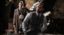 El mundo suspira por Jude Law y su guapísimo joven Dumbledore